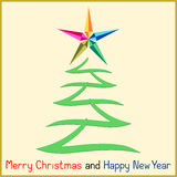 Christmas Message with Tree Royalty Free Stock Image