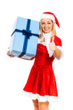 Christmas messenger Stock Image