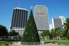 Christmas In Miami Stock Photo