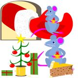 Christmas mice Royalty Free Stock Image