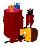 Christmas Mice Art Illustration Stock Photography