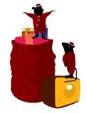 Christmas Mice Art Illustration Stock Photo
