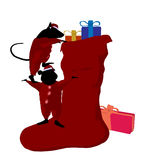 Christmas Mice Art Illustration Royalty Free Stock Image