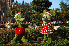 Christmas Mickey and Minnie. Mickey and Minnie in their Christmas Best, Walt Disney World Royalty Free Stock Photos