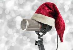 Christmas microphone Stock Photography