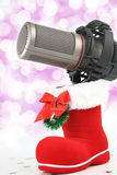 Christmas microphone Stock Photo