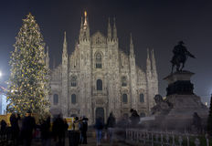 Christmas in Milan stock images