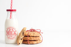 Free Christmas Milk And Cookies. Royalty Free Stock Image - 84492876