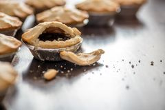 Christmas mince Pie close-up Royalty Free Stock Images