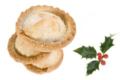 Christmas mince pie stack Stock Photos