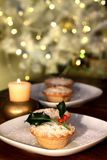 Christmas mince-pie Stock Images