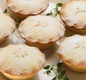 Christmas Mince Pies. Mince pies dusted with icing sugar Royalty Free Stock Photos