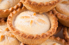 Christmas Mince Pies. Close up of a stack of Christmas mince pies royalty free stock photography