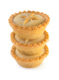 Christmas mince pies on a white background Royalty Free Stock Images