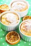 Christmas mini cakes. With cinnamon and orange zest Stock Photos