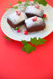 Christmas mini cakes with copy space Royalty Free Stock Image
