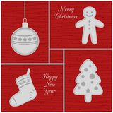 Christmas mini cards, red Stock Photo