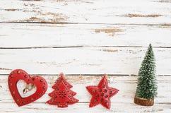 Christmas miniature tree, Xmas decoration Stock Image