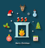 Christmas Minimal Objects and Elements Stock Images