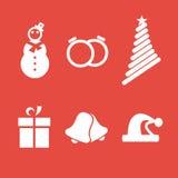 Christmas minimalistic icon set Stock Photo