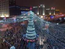 Christmas Minsk, Belarus royalty free stock photos