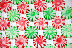 Christmas mint candy. Red and green christmas peppermints Stock Photography