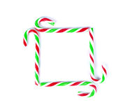 Christmas Mint cane candy close up on white.  Royalty Free Stock Images