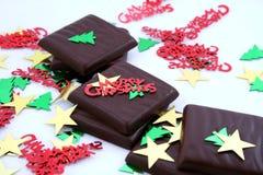 Christmas Mints. Chocolate mints for Christmas stock photography