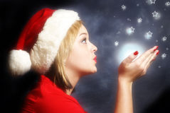 Christmas Miracle. A Christmas miracle is sent to the stars royalty free stock photo