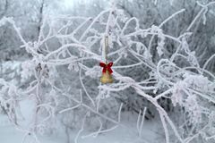 Russian cold dream Christmas . stock images