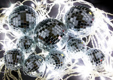 Christmas Mirror Balls and Light Royalty Free Stock Images
