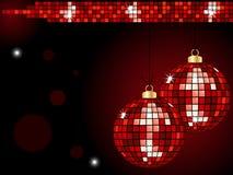 Christmas mirror baubles Stock Photos