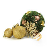 Christmas Mistletoe With Ball And Snowstar Royalty Free Stock Image