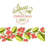 Christmas mistletoe border. Royalty Free Stock Image