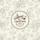 Christmas mistletoe border Royalty Free Stock Images