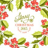 Christmas mistletoe border. Royalty Free Stock Photography