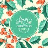 Christmas mistletoe border. Royalty Free Stock Photo
