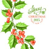 Christmas mistletoe branch drawing. Royalty Free Stock Photography