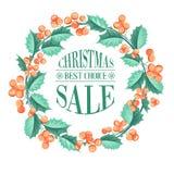Christmas mistletoe branch. Royalty Free Stock Photo