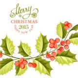 Christmas mistletoe brunch. Stock Image