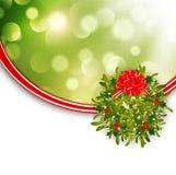Christmas  Mistletoe Frame Stock Photography