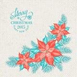 Christmas mistletoe garland. Royalty Free Stock Images
