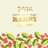 Christmas mistletoe holiday card with text Royalty Free Stock Photography