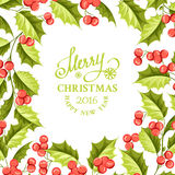 Christmas mistletoe holiday card with text Stock Images