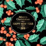 Christmas mistletoe holiday card Stock Photography