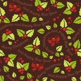 Christmas mistletoe seamless background Royalty Free Stock Photography