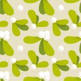 Christmas mistletoe seamless pattern Stock Photography
