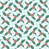 Christmas mistletoe seamless pattern. Vector New Year wrapping paper or textile design. Royalty Free Stock Images