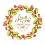 Christmas mistletoe wreath. Stock Image