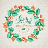 Christmas mistletoe wreath. Royalty Free Stock Photography
